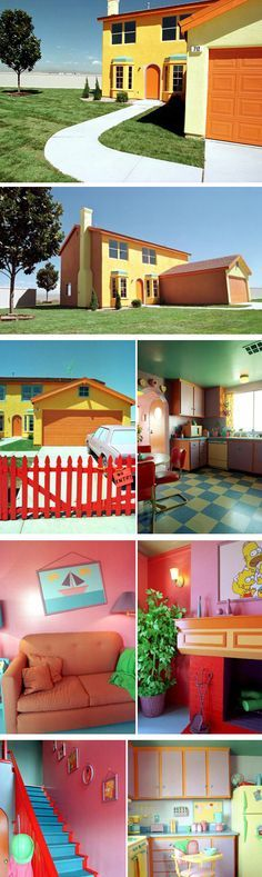 Wow, the Simpsons House! This exact replica of The Simpsons' House was made by a fanatic, and it looks exactly like the one in the cartoon inside and out. It is located in Henderson, Nevada