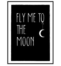 Fly me to the moon. Graphic illustration print.. by MUUI