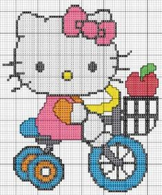 Hello kitty x-stitch