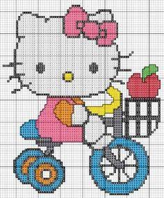 Hello kitty x-stitch