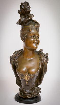 Bust by Victor Léopold Bruyneel (bronze, 54 cm)