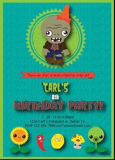 Plants vs. Zombies Inspired Birthday Invitation DIY by arkadul