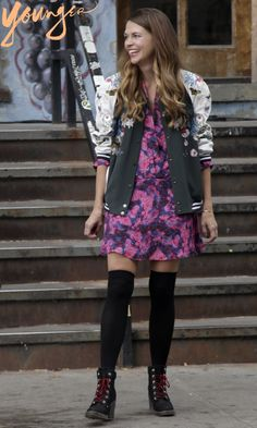 Brighten up your street style! Go floral and mix prints. Styled by fashion icon Patricia Field in the new series 'Younger', starring Sutton Foster! Click to discover full episodes.