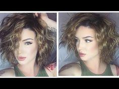Short & Wavy | Effortless Hair Tutorial - YouTube