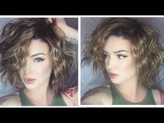 Short & Wavy | Effortless Hair Tutorial - YouTube