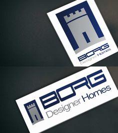 Develop and design a logo for Borg Designer Homes.   #Design #Branding #Stationary #Logo #Logodesign #Print #Marsdesign