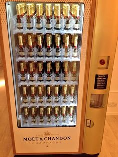 Moet Champagne Vending Machine At Selfridges #Selfridges #Moet #Champagne