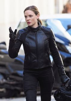 A timeless and classic piece every girl should own Rebecca Ferguson black biker Leather Jacket. Amp up your look come to The Movie Fashion Rebecca Ferguson Mission Impossible, Mission Impossible Fallout, Simon Pegg, Swedish Actresses, Female Actresses, Rebecca Fergusson, Rebecca Ferguson Actress, Celebrity Outfits, Celebs
