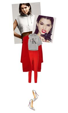 """Calvin Klein Hoodies"" by risingsea ❤ liked on Polyvore featuring Calvin Klein, Derek Lam, Michael Kors, Christian Louboutin, women's clothing, women's fashion, women, female, woman and misses"