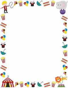 A page border with a circus theme. Free downloads at http://pageborders.org/download/circus-border/