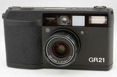 #16863 Ricoh GR-21 Compact film camera GR 21mm f/3.5 w/box & case Japan F/S GIFT #Ricoh