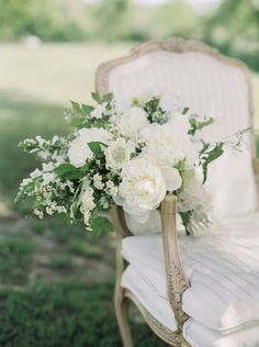 Wonderful Bouquet Showcasing Big White Peonies, White Scabiosa, White Snapdragons, Other White Florals & Greenery & Foliage~~