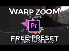 Warp Zoom Tutorial (Adobe Premiere Pro CC 2017) - YouTube