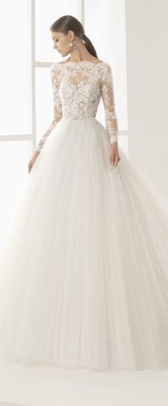 Amazing Tulle Bateau Neckline See-through Bodice A-Line Wedding Dress With Lace Appliques & Beadings