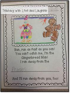 Gingerbread Writing Freebie
