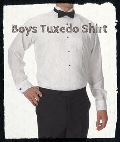 Boy's White Wing Tip Collar Tuxedo Shirt | Buy online | Reasonable prices