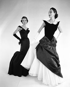 Now You Know: Charles James's Designs - Models in Charles James Designs, 1950 from #InStyle