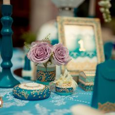 Precious Turquoise - an eclectic wedding collection, combining antique… Eclectic Wedding, Wedding Decorations, Table Decorations, Wedding Rentals, Luxury Wedding, Event Design, Wedding Designs, Hand Painted, Turquoise