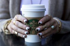 black and white nail art -- a treat from @Tracy Lane for @Nichole Radman Ciotti