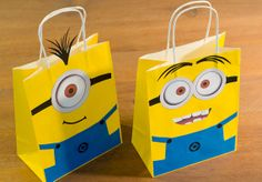 Minion Party Favor bags / Goodie bags set of by FestivaPartyDesign, $30.00
