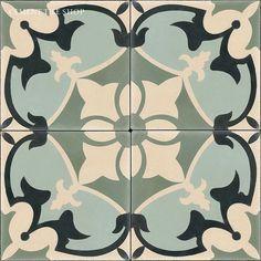In Stock Cement Tile - floor tiles - tampa - by Cement Tile Shop Floor Patterns, Tile Patterns, Porch Tile, Estilo Colonial, Encaustic Tile, Cement Crafts, Style Tile, Color Tile, Ceramic Painting