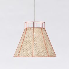 pinned by barefootstyling.com STRAW coral pendant lamp in lacquered metal and canne - COLONEL