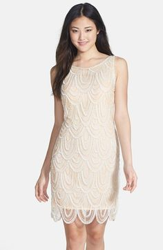 Pisarro Nights Embellished Mesh Cocktail Dress (Regular & Petite) | Nordstrom  ANJA !!!!! I still love this...and its totes you, but its kinda fancy and really pricy