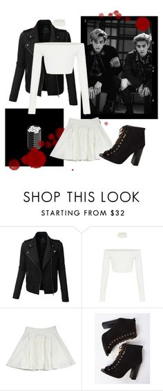 """EXO Lotto girl outfit"" by gazelle98 ❤ liked on Polyvore featuring LE3NO and Milly"