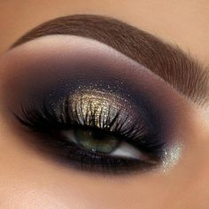 Eye Makeup Glitter, Black Eye Makeup, Eye Makeup Tips, Makeup Inspo, Makeup Inspiration, Makeup Ideas, Fall Eye Makeup, Makeup Tutorials, Makeup Geek