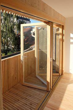 Fenêtres peu encombrement . architecture contemporaine écologiq | ballast architectes | strasbourg | 15 loggia