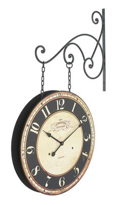 london station two sided wall clock free shipping 30day moneyback guarantee