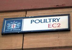 Poultry Street London - Funny unusual weird street names