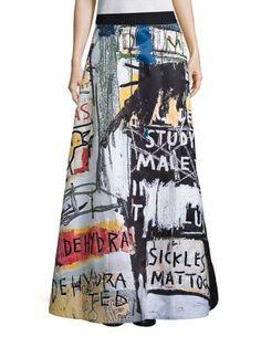 ALICE AND OLIVIA Alice + Olivia X Basquiat Meryl Embroidered Ball Skirt. #aliceandolivia #cloth #skirt