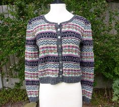 Yellow, Pink and Sparkly: Kate - Fair Isle Cardigan - Finished hat for women fair isles hat free fair isles Fair Isle Knitting Patterns, Fair Isle Pattern, Knit Patterns, Stitch Patterns, Ravelry Free Patterns, Hats For Women, Sweaters For Women, Knit Vest Pattern, Fair Isles