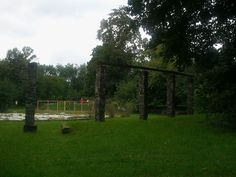 Park Leśnika na Gocławku pergola