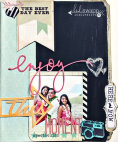 Life is Sweet.  Chalkboard Mini Memory file on Heidi Swapp's blog.