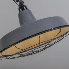 Lámpara colgante LOEK gris #iluminacion #decoracion #interiorismo #industrial