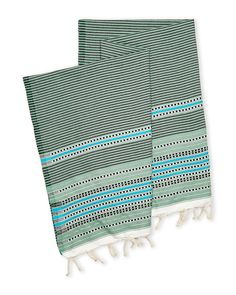 Scents & Feel Green Fouta Lurex Towel