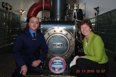 Queen Street Mill, November 2010. Institution President Prof Isobel Pollock presenting the award to the Chief Engineer.