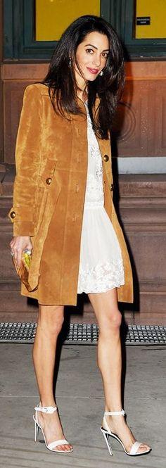 Camel Suede Coat via @butterbean2001. #coats #suedecoats
