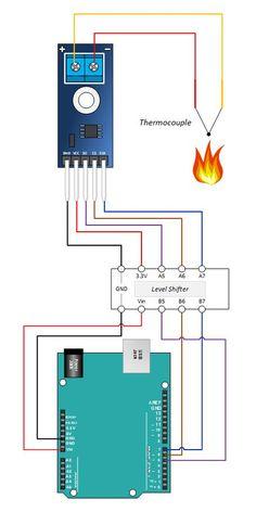 MAX31855 K Arduino Tutorial Hook Up