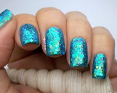 Love the blue and the glitter (just hard to take off though)...