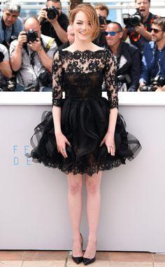 Oscar de la Renta . Emma Stone