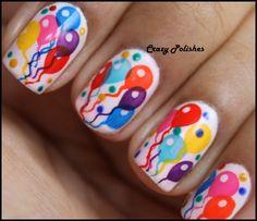 Colorful Balloons Nails