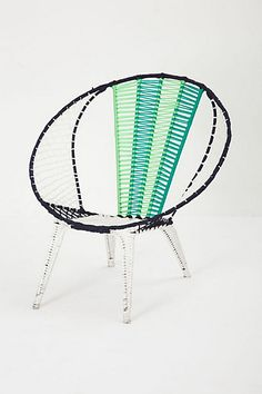 Colorblocked Basket Chair #anthropologie $298 + $150 s/h I would totally have these chairs on my front porch if I lived in Florida.