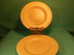 Pfaltzgraff GOLDEN PEARLS 2 stoneware Salad Plates #Pfaltzgraff