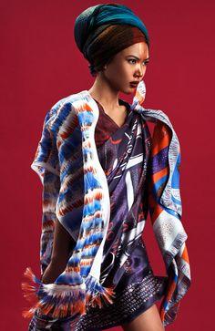 DiklaLevskyDesign / Printed Silk Scarf Oversized Scarf / Etsy Fashion