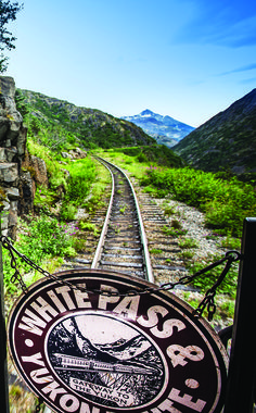 Take the Scenic Railway of the World through Alaska. The White Pass and Yukon Route train will travels 20 miles through mountains, tunnels and historic sites.