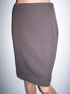Rebecca Taylor Skirt NWT Size 4 Java Brown Neiman Marcus $220 #RebeccaTaylor #StraightPencil