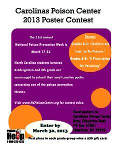 Carolinas Poison Center 2013 Poster Contest